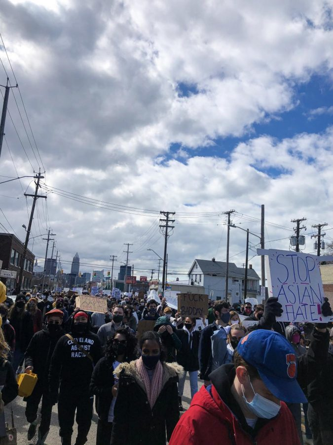 Clevelanders march to end violence and racism against Asian Americans.