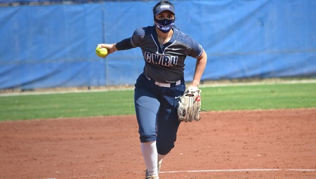 Fourth-year Sidney Brannam led the softball team in their sweep of Bluffton University on April 2, holding Bluffton to zero runs in the first game and three in the second.