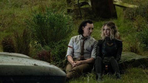 "Loki (Tom Hiddleston) and Sylvie (Sophia Di Martino) take on the Time Varience Authority in the new Disney+ series, ""Loki."""