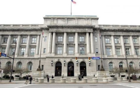 Cleveland City Hall is located in Clevelands Downtown neighborhood.