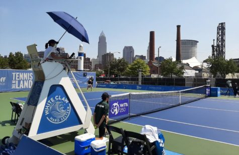 Tennis In the Land, featuring the umpires chair designed by Cleveland Institute of Art student Thomas Vinci