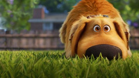 Dug, voiced by Bob Peterson, explores suburban life in the new Disney+ show, Dug Days