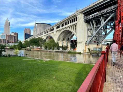 Walking along the Cuyahoga River in the Flats is one of Cleveland's true treasures