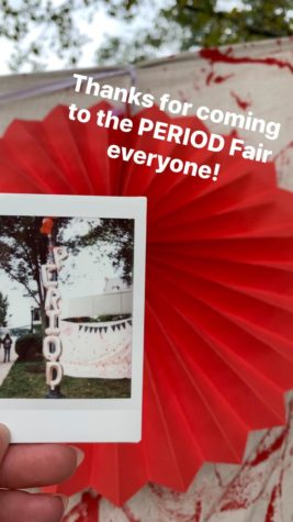 Period Fair came to Thwing with speakers and games for this menstruation celebration