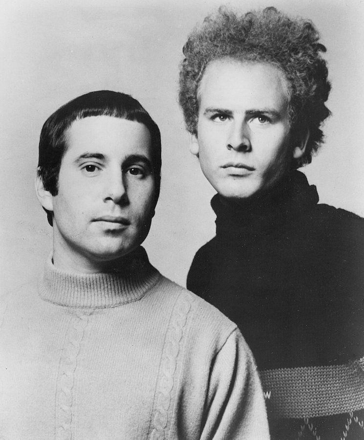 Paul Simon (left) and Art Garfunkel (right) provide soothing tones that might be just what you need to accompany your evening walk through the quad as the leaves start to fall