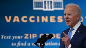 The president announces a new bill for mass-vaccination to ensure safety for Americans in the workplace