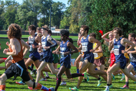 The CWRU Mens Cross Country team finished fifth out of 35 teams at the 2021 Inter-Regional Rumble at Oberlin College on Saturday, Oct. 16.